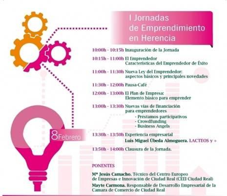 dipticojornadas prorama g 465x401 - Más de 60 empresarios de Herencia participarán en la I Jornada de Emprendimiento