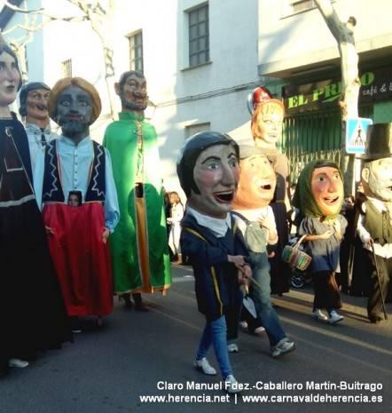 Gigantes y cabezudos del Carnaval de Herencia