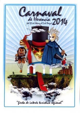 Cartel oficial del carnaval de Herencia 2014