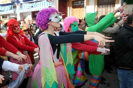 herencia flashmob de las deseosas 2013 465x310 -  Ansiosos y Deseosas, preparados para dar la bienvenida al Carnaval de Herencia, de Interés Turístico Regional