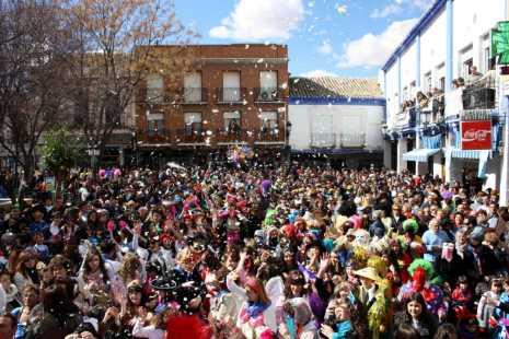 Imagen de archivo de la primera edición del flashmob del Carnaval de Herencia