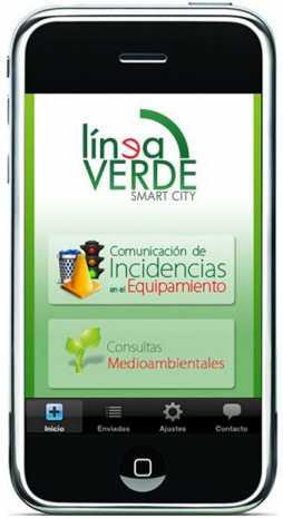 2014 03 18 GM movil inicio herencia linea verde 1 g 254x465 - Nuevo servicio de consultas medioambientales y comunicación de incidencias sobre el equipamiento urbano