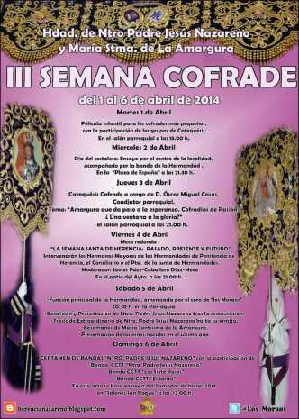 """Cartel de la Tercera Semana Cofrade de Herencia 332x465 - """"Los moraos"""" presentan su III Semana Cofrade"""