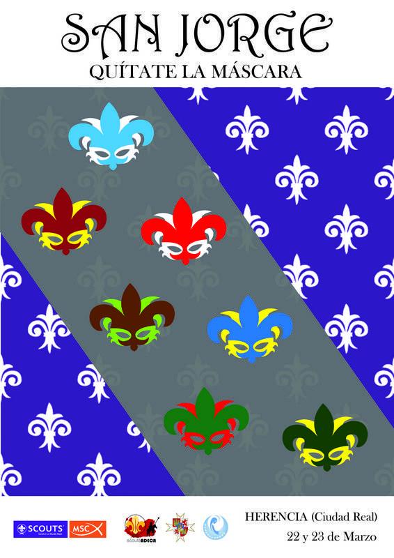 Cartel Celebración scout de San Jorge en Herencia - Más de 300 scouts de la Asociación Diocesana de Ciudad Real se reunirán en Herencia