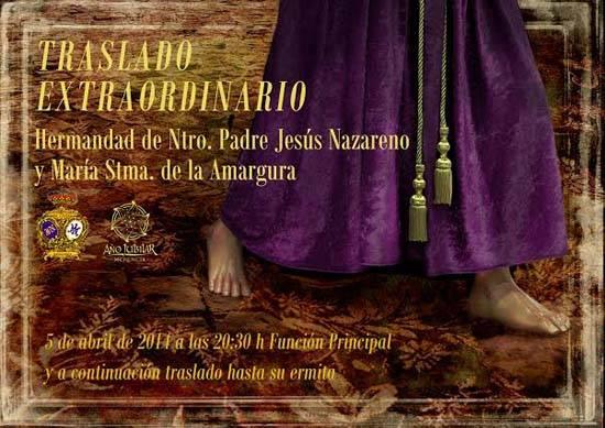 Cartel traslado extraordinario de la imagen de Jesús Nazareno de Herencia