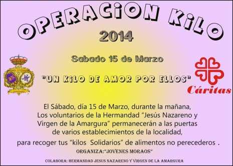 """Cartel de la Operacion Kilo de la hermandad de """"Los Moraos"""" de Herencia"""