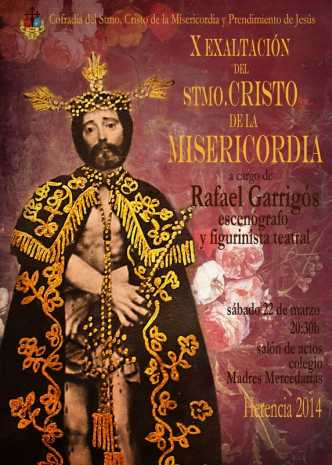 Cartel de la exaltación cofrade del Cristo de la Misericordia de Herencia1