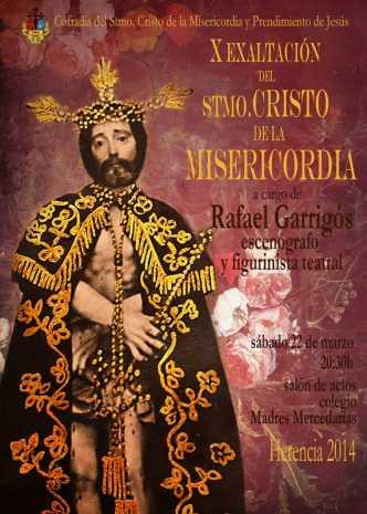 cartel Y exaltación cofrade del Cristo de la Misericordia de Herencia1 332x465 - Rafael Garrigós hará la exaltación al Cristo de la Misericordia