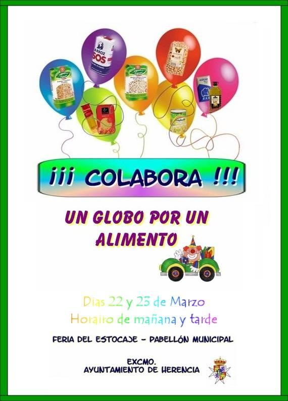 cartel - Campaña de recogida de alimentos durante la III Feria del Comercio de Herencia