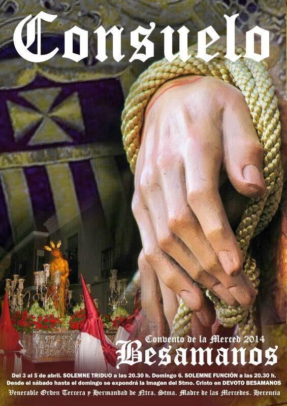 Cartel besamanos Cristo del Consuelo - Triduo y besamanos del Cristo del Consuelo