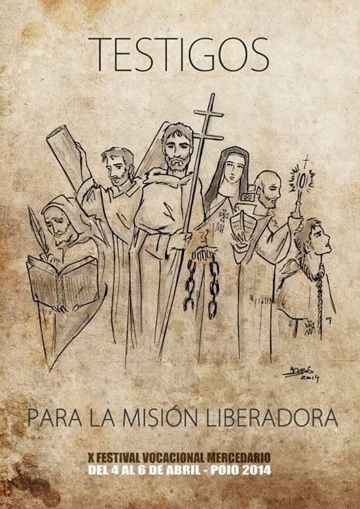 Cartel del X festival vocacional mercedario obra de Jesús Cobos - Herencia participará del X Festival Vocacional Mercedario