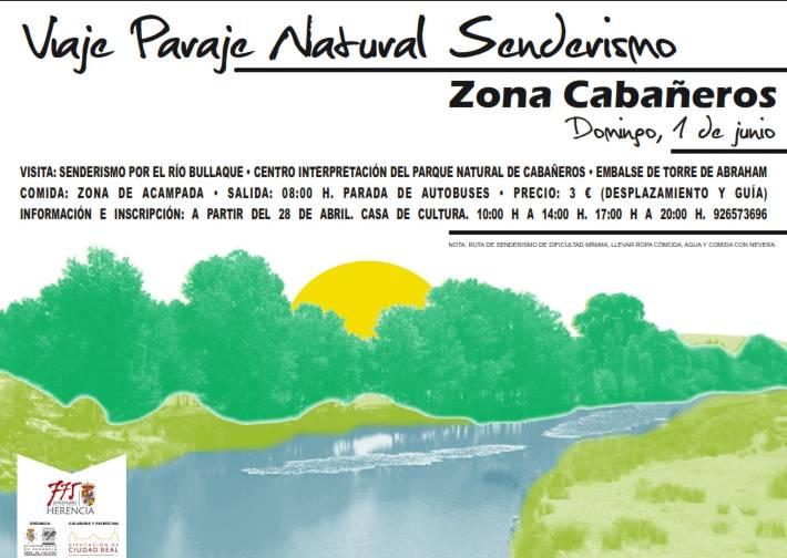 Cartel viaje Parque Natural Senderismo