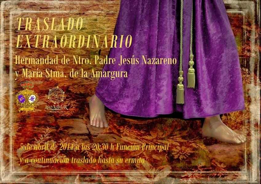 Cartel traslado extraordinario definitivo1 - Traslado extraordinario de la imagen de Jesús Nazareno