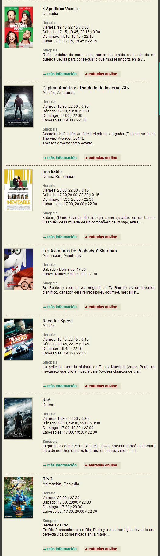 Cinemancha com - Programación Cinemancha del Viernes 11 al Miercoles 16 de Abril
