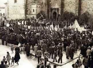Imagen antigua de la Semana Santa de Herencia