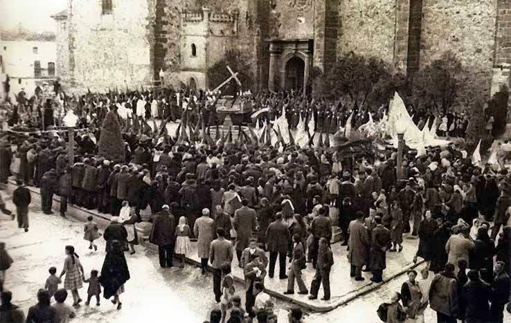 Imagen antigua de la Semana Santa de Herencia - La Semana Santa de Herencia: pasado, presente y futuro