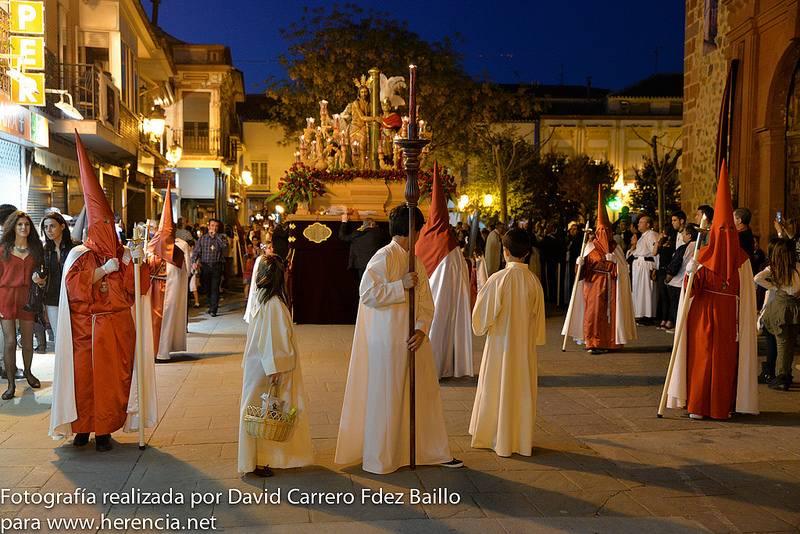 Procesión del Santo Entierro durante la Semana Santa de Herencia