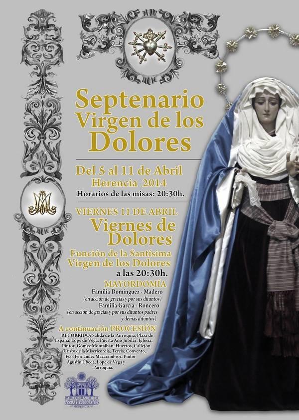 Septenario Virgen de los Dolores de Herencia 2014 - Septenario y procesión de la Virgen de los Dolores