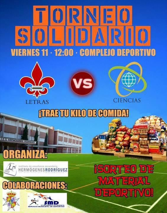 Torneo solidario del instituto Hermógenes Rodríguez de Herencia - Campaña solidaria del I.E.S. Hermógenes Rodríguez