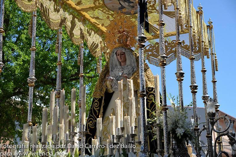 Virgen de los Dolores de la Semana Santa de Herencia 2014 - Fotogalería de Semana Santa. Procesión de los 7 Santos 2014