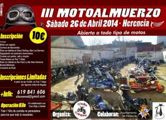 cartel III motoalmuerzo Herencia 2014