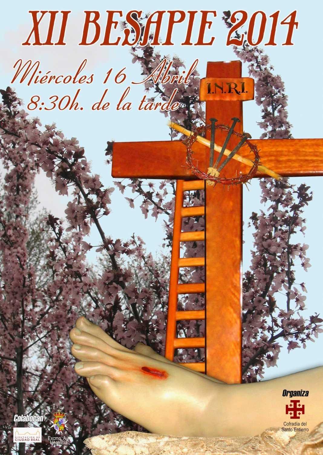Cartel besapie santo entierro