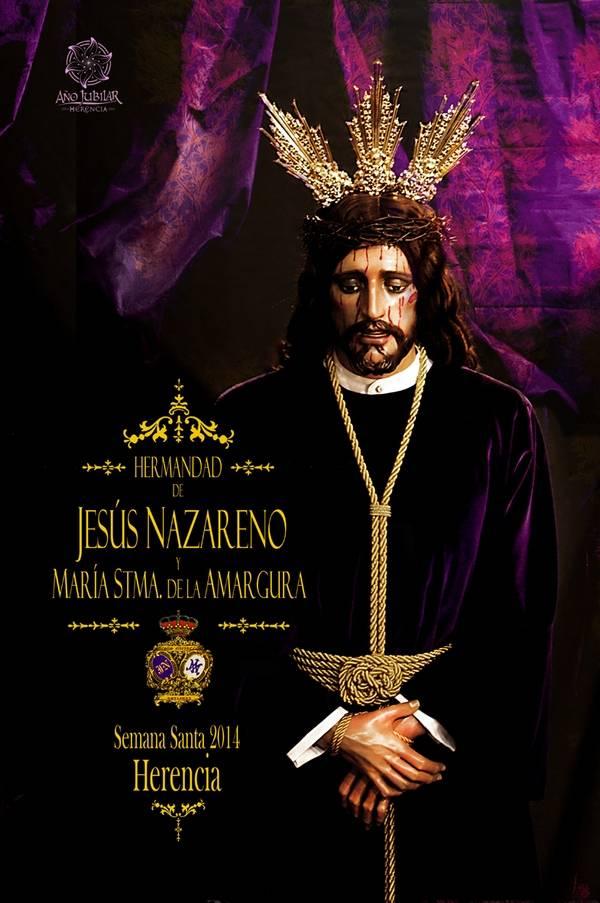 """cartel nazareno semana santa 2014 herencia - Así anuncian """"Los Moraos"""" su Estación de Penitencia 2014"""