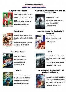 cartelera de cinemananch... jueves 24 de abril