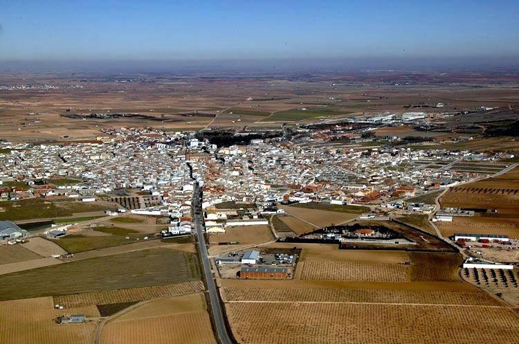 herencia vista aerea - Diputación concedió en 2019 anticipos reintegrables a Herencia