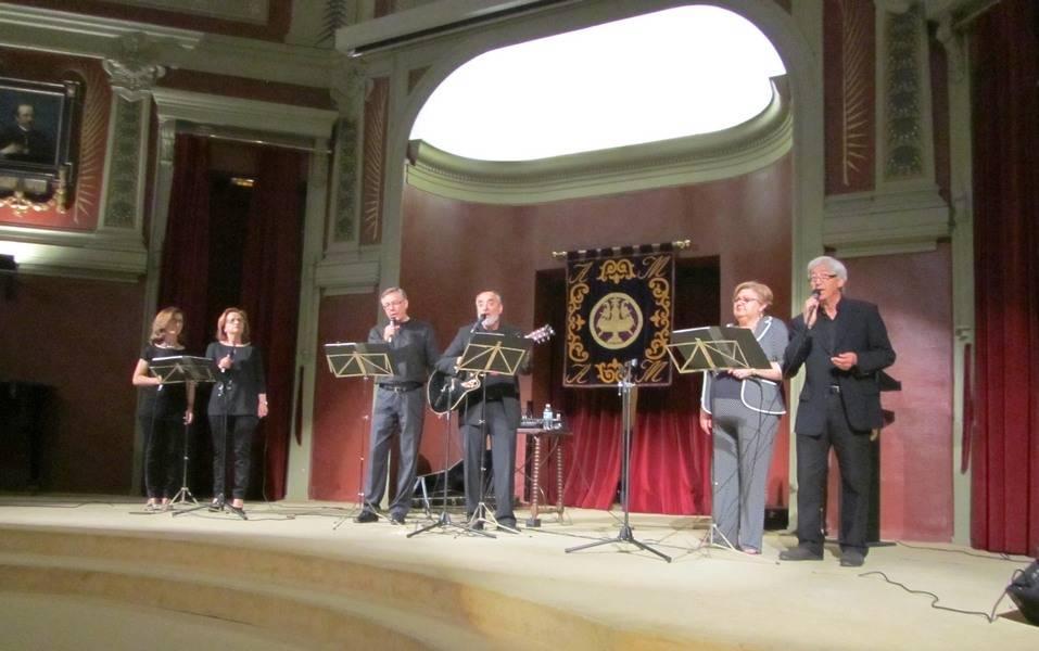 Actuación del grupo Vosco en el Ateneo de Madrid - Vosco, compañía sarcástico vocal, actuó en el Ateneo de Madrid