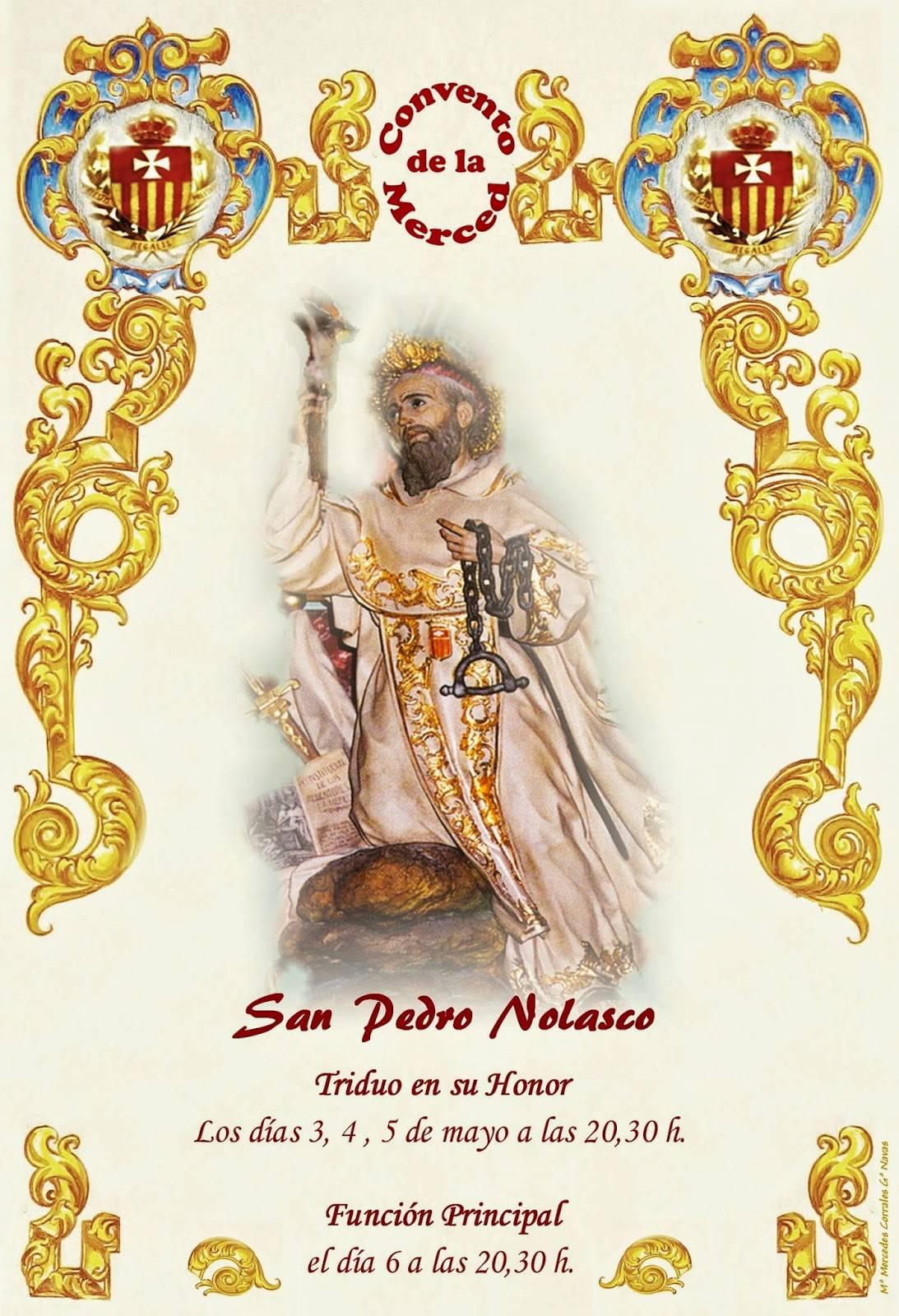CARTEL SAN PEDRO NOLASCO 2014 - Visita canónica del General de la Orden de la Merced y Triduo a san Pedro Nolasco