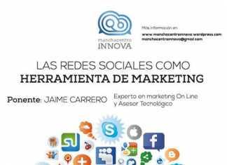 Cartel Charla Redes Sociales impartida por Jaime Carrero