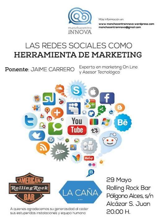 Cartel Charla Redes Sociales - Jaime Carrero dará una charla sobre redes sociales