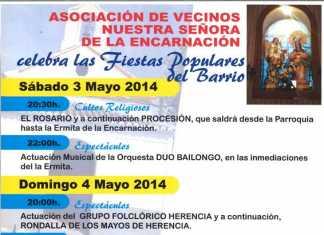 Cartel Fiesta de la Encarnación de Herencia 2014