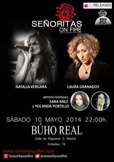 """Concierto de Yolanda Portillo - Yolanda Portillo actuará en Madrid junto a """"Señoritas on Fire"""""""