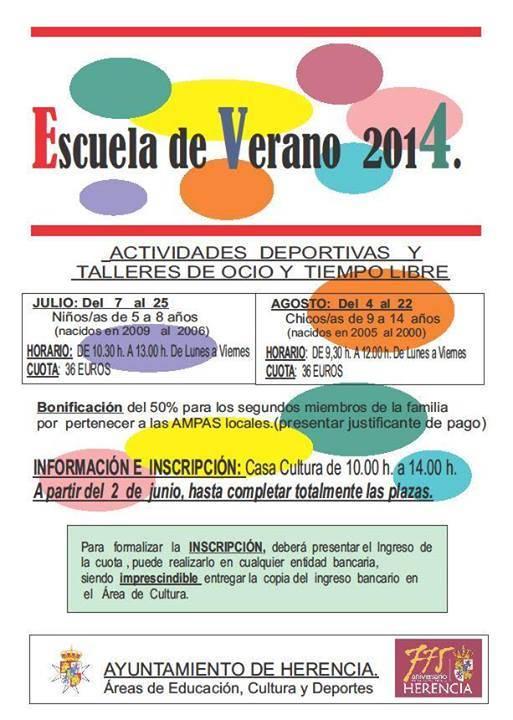 Escuela de Verano 2014 - Escuela de Verano 2014
