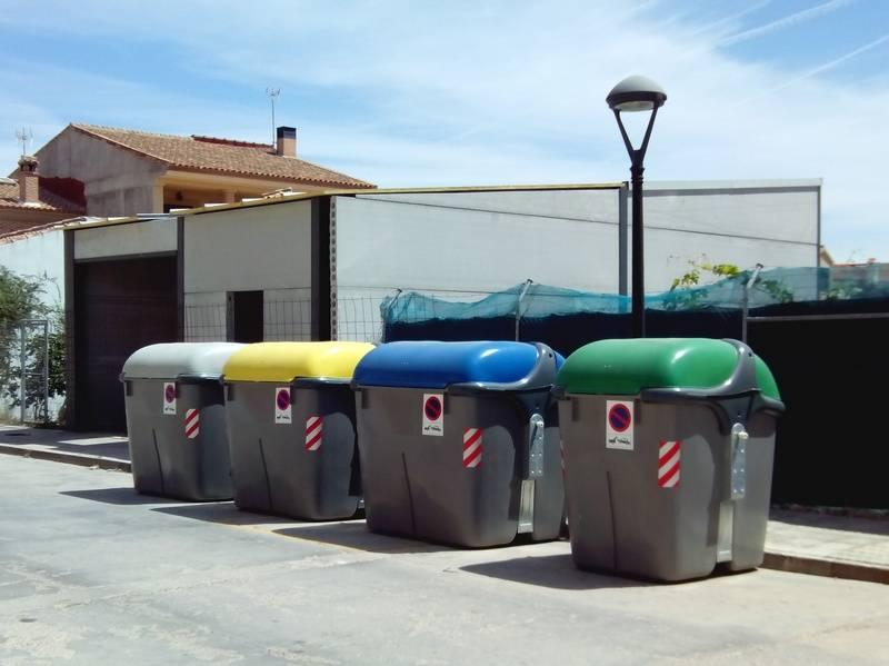 Nuevos contenedores de reciclaje de Herencia - Comsermancha vuelve a incrementar en el año 2015 la recogida de basura y de la línea amarilla