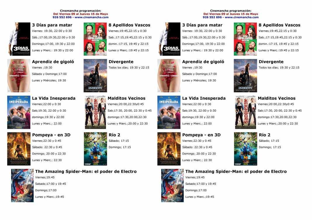 Programación Cinemancha del viernes 9 al miércoles 14 de mayo 1