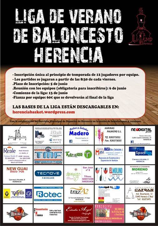 liga de verano de baloncesto Herencia 2014