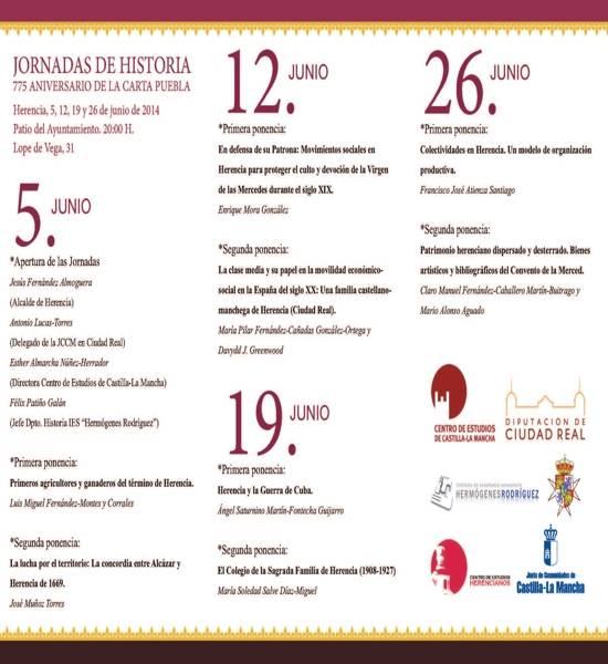 programa herencia jornadas mayo junio pagina 2 - Mercadillo Medieval y unas importantes Jornadas de Historia, nuevas actividades para mayo y junio del 775 Aniversario de la Carta Puebla de Herencia