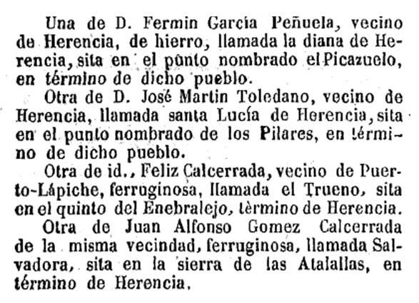 registro de minas en herencia a mediados del siglo xix - Minas en Herencia
