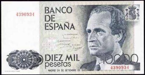 10000 pesetas - Abdica el Rey de España, Don Juan Carlos I