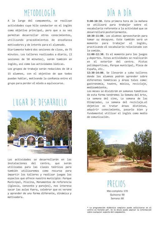 Campamento urbano de ingles en Herencia - Ábrego abre la inscripción para su campamento urbano de inglés
