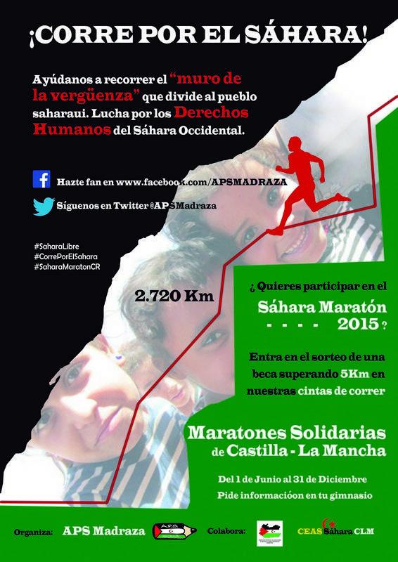 Carrera solidaria - El gimnasio The Game participa en los maratones solidarios por el Sahara