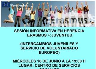 Charla Erasmus+ en Herencia