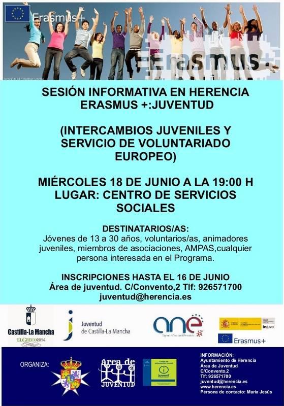 Charla Erasmus+ en Herencia a - Sesión informativa en Herencia Erasmus+