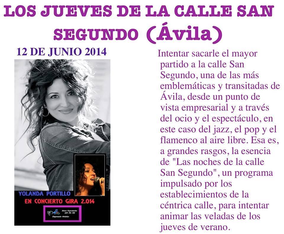 Concierto de Yolanda Portillo en Ávila - Yolanda Portillo actúa en Ávila