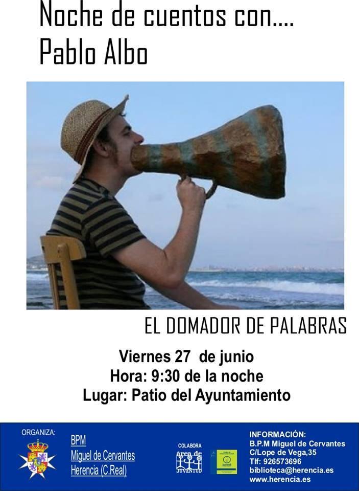 Cuentacuentos Pablo Albo - Cuentacuentos con Pablo Albo