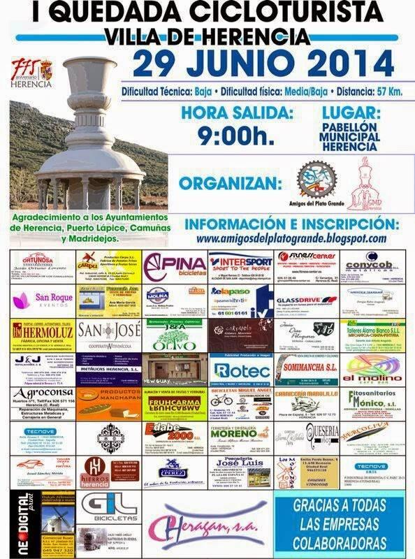 """Primera Quedada Cicloturista Villa de Herencia - Primera quedada cicloturista """"Villa de Herencia"""""""