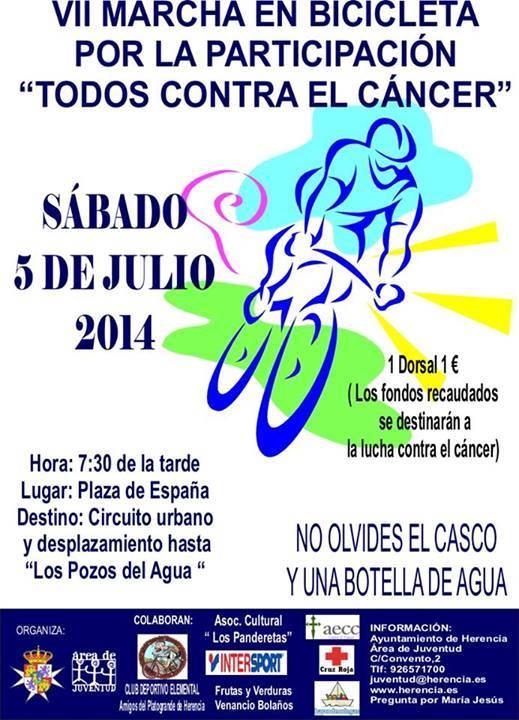 VII Marcha por la participación en bicicleta y contra el cáncer de Herencia